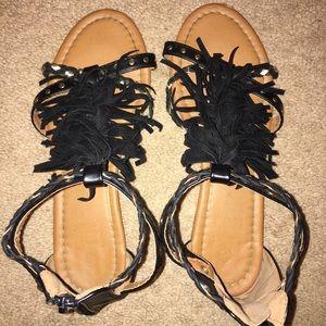 Shoes - FRINGE SANDALS !